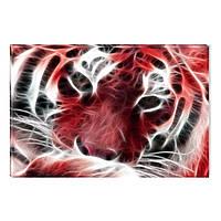 Светящиеся Картины Startonight Тигр Абстракция Мир Животных Печать на Холсте Декор стен Дизайн Интерьер