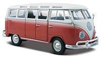Автомодель Maisto 1:25 Volkswagen Van Samba Красно-кремовый (31956 red cream)