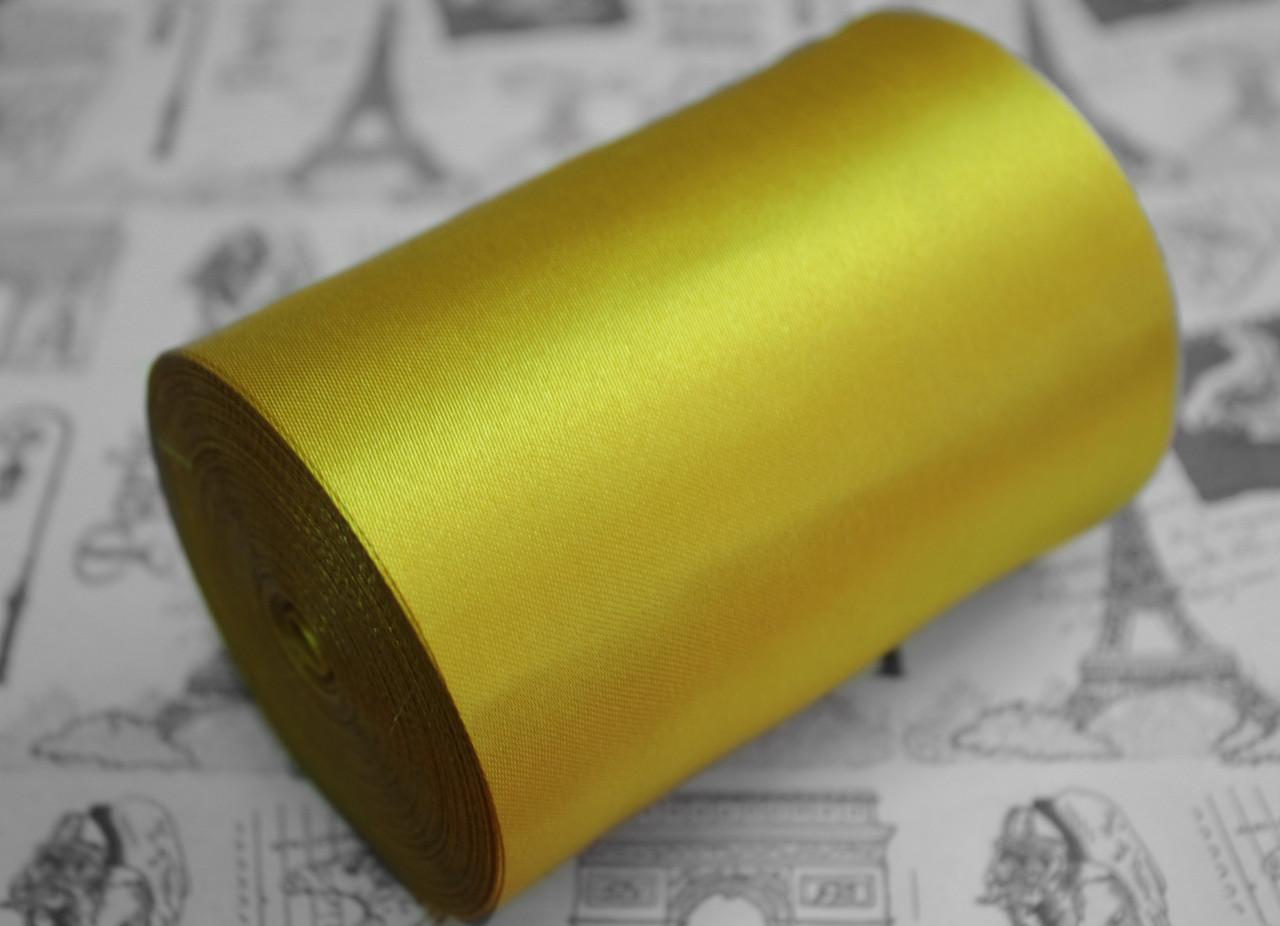 Лента атласная золото (ширина 10см, намотка 20м)