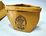 Подарочная упаковка из мешковины, 14,5 х 21,5 см, Мешочек из мешковины, Днепропетровск, фото 1