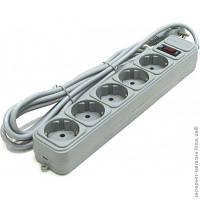 Сетевой фильтр Gembird SP5-G-15G серый, 4.5 м, 5 розеток