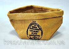 Подарочная упаковка из мешковины, 11,5 х 20 см, Упаковка из мешковины, Днепропетровск