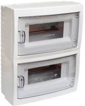 Купить бокс 16-местный открытой установки с дверцей для установки автоматических выключателей и т.п. с номинальным током не более 40 А, при температуре окружающей среды от -5 ºС до +40 ºС. Для размещения 16-ми и менее электроаппаратов.