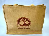 Сумка из мешковины, 42х34х18 см, Сумка  текстильная, Днепропетровск, фото 1