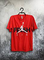 Футболка мужская Nike Jordan Fresh Air (красная)