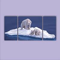 "Модульная картина ""Мама с малышами""  (800х1720 мм)  [8 модулей]"