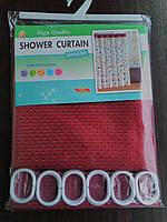 """Штора для ванной комнаты """"Shower Curtain"""" красная 180 х 180 см"""
