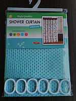 """Штора для ванной комнаты """"Shower Curtain"""" бирюзовая 180 х 180 см"""