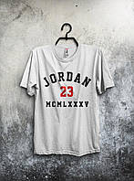 Футболка мужская Jordan 23 (белая) реплика