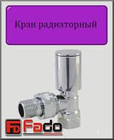 """Кран радиаторный верхний Fado ХРОМ 1/2"""" угловой"""