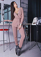 "Брючный женский костюм ангора ""Brand"" с карманами (3 цвета)"