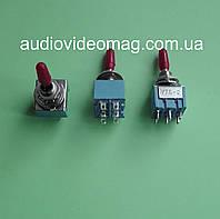 Тумблер MTS-203 трёхфазный (on-off-on), 2 цепи - 6 pin , 3A 250V AC