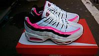 Подростковые кроссовки NIKE Air Max 95 белые с розовым