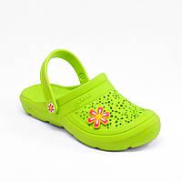 Женские шлепанцы зеленые (Код: Сабо ДС-40), фото 1