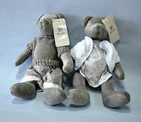 Пара Мишек, мягкая игрушка, мальчик/ девочка, Н30 см, вилюр, Подарки, Днепропетровск