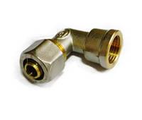 Отвод цанговый 16*1/2 с внутренней резьбой для металлопластиковой трубы