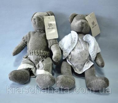 Мишко, м'яка іграшка, дівчинка, Н30 см, велюр, Подарунки, Дніпропетровськ