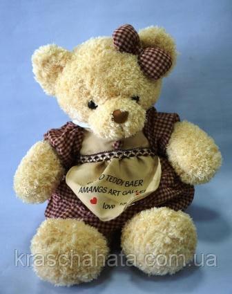 Ведмедик в сукні, 48х22 см, плюш, Подарунки, Дніпропетровськ