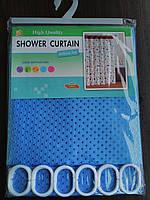 """Штора для ванной комнаты """"Shower Curtain"""" синяя 180 х 180 см"""