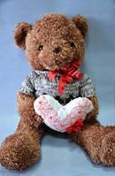 Мишка с сердцем, 65х37 см, плюш, Подарки, Днепропетровск