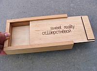 Счетница - коробка, дерево, логотип - на заказ