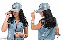 Кепка женская джинсовая