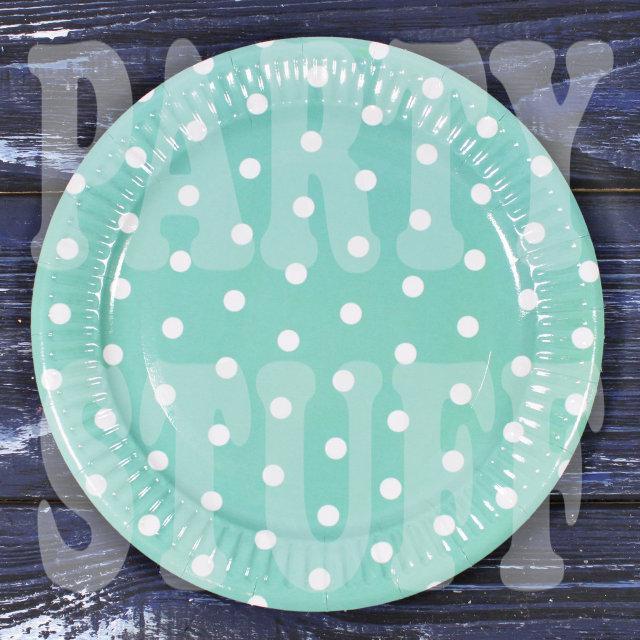 тарелки одноразовые в горошек
