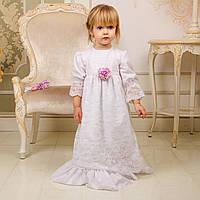 Рубашка для крещения девочки Лилиана Лили от Miminobaby от 0-6 месяцев