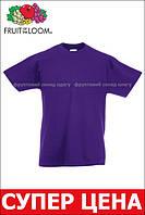 Детская Классическая Футболка для Мальчиков Фиолетовая Fruit of the loom 61-033-PE 9-11