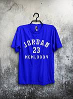 Футболка мужская Jordan 23 (синяя)