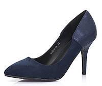 Женские туфли из замша, на шпильке