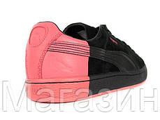 Мужские кроссовки PUMA Suede Staple Black замшевые Пума черные, фото 3