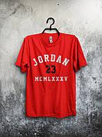 Футболка мужская  Jordan 23 (красная)