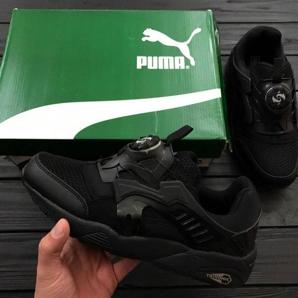 Мужские кроссовки Puma Disc BlazeCT Black черные топ реплика