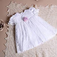 Платье для крещения девочки Лили от Miminobaby  от 3 до 6 месяцев