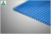 Поликарбонат сотовый Polygal (Израиль) 4мм голубой