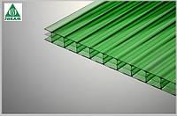 Поликарбонат сотовый Polygal (Израиль) 4мм зеленый