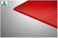 Поликарбонат сотовый Polygal (Израиль) 4мм красный