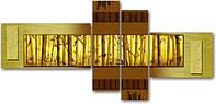 "Модульная картина ""Бамбук""  (1100х2360 мм)  [4 модуля]"