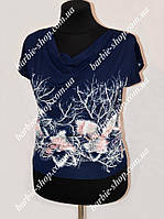 Женская футболка с красивым узором Батал 1220