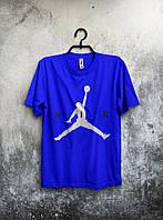 Футболка мужская Nike Air Jordan (синяя) реплика
