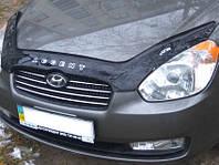 Дефлектор капота (мухобойка) Hyundai Accent 2011- /Solaris 2010-2014 Vip Tuning
