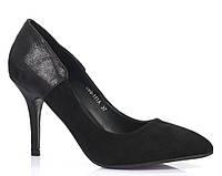 Женские туфли на шпильке, из эко замша, фото 1