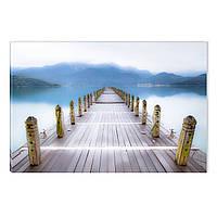 Светящиеся Картины Startonight Причал на Озере Природа Пейзаж Печать на Холсте Декор стен Дизайн Интерьер