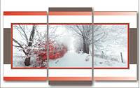 """Модульная картина """"Зима""""  (900х1540 мм)  [3 модуля]"""
