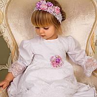 Рубашка кружевная для крещения девочки Лилиана Лили от Miminobaby от 0 до 6 месяцев