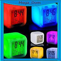 Часы светильник Хамелеон CX508 будильник термометр