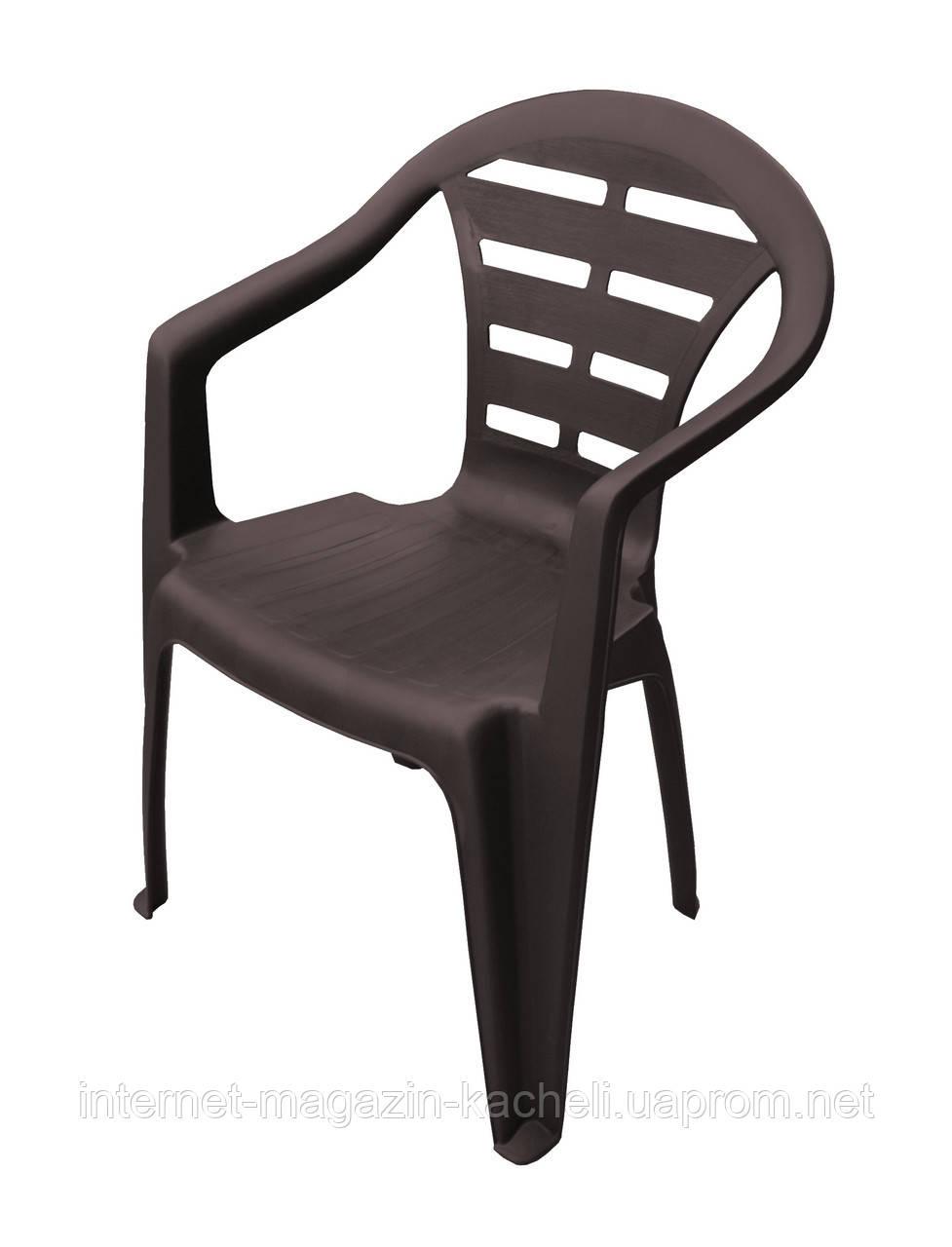 Кресло пластиковое MOYO коричневое