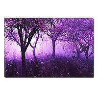 Светящиеся Картины Startonight Фиолетовый Лес Природа Пейзаж Печать на Холсте Декор стен Дизайн Интерьер
