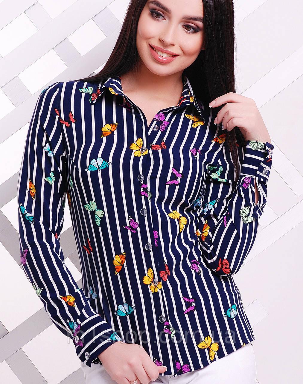 Женская блузка в полоску (1724  mrs)
